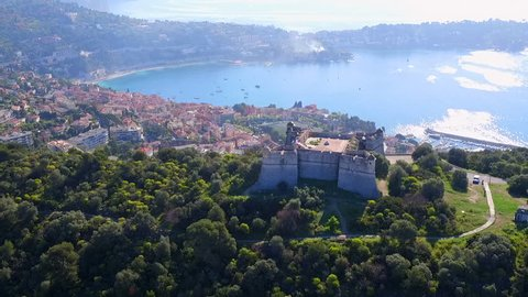 Aerial Forward: Fort du Mont-Alban, the Bay of Villefranche, and Cape Ferrat