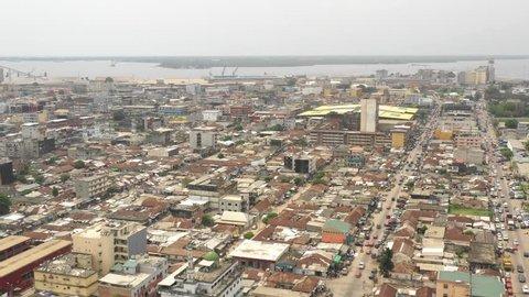 Abidjan, Ivory Coast, Africa, Treichville, by drone