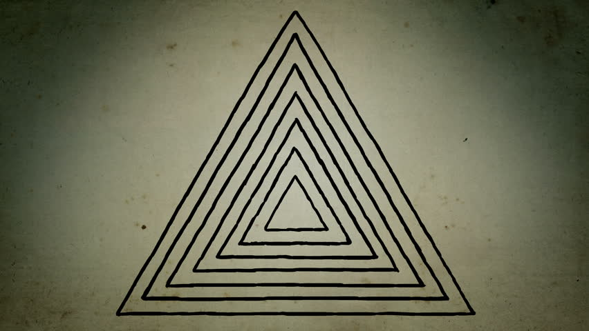 Mystical triangle lines drawing animation | Shutterstock HD Video #1020667120