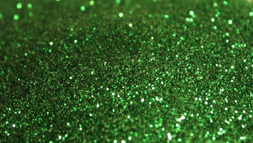 Green sparkling glitter rain | Shutterstock HD Video #1020699160
