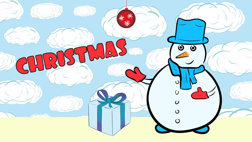 Christmas snowmen and sale with clouds | Shutterstock HD Video #1020702250