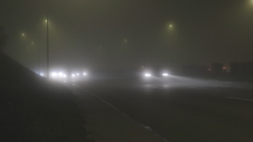 Foggy streets at night | Shutterstock HD Video #1020782710