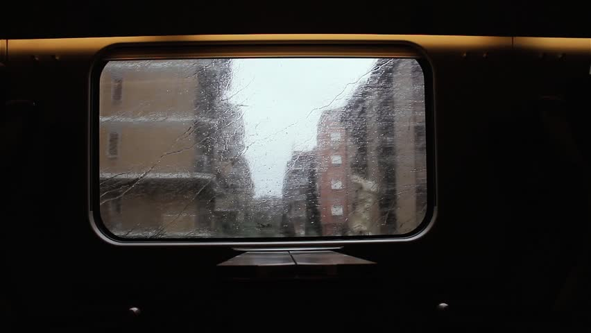 Landscape Through Moving Train Window with Rain. | Shutterstock HD Video #1020826450