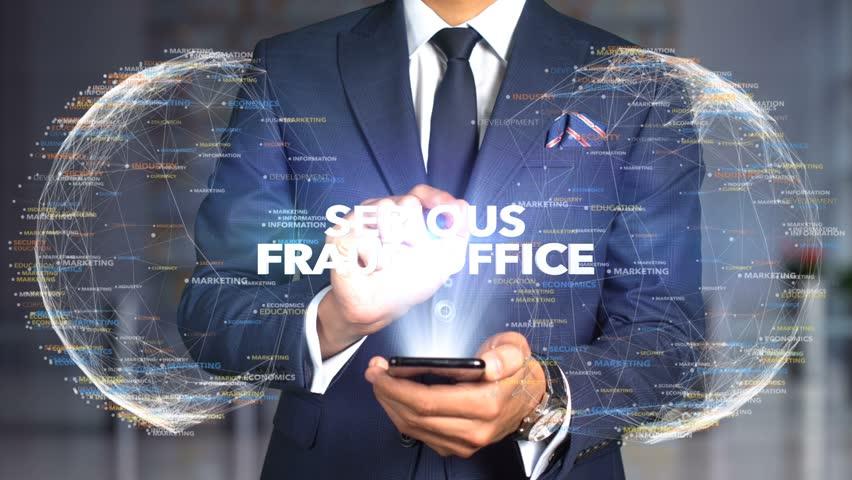 Businessman Hologram Concept Tech - SERIOUS FRAUD OFFICE   Shutterstock HD Video #1020896740