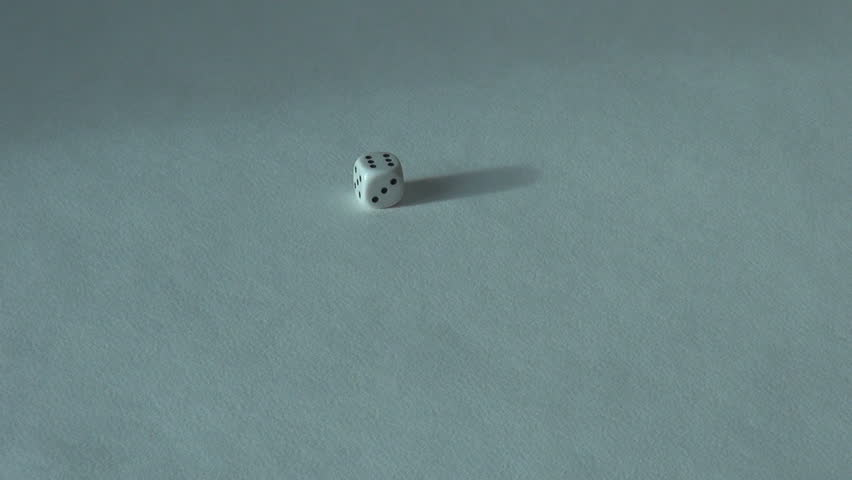 Six 6 white bone dice board game. choice casino winner | Shutterstock HD Video #1020943120