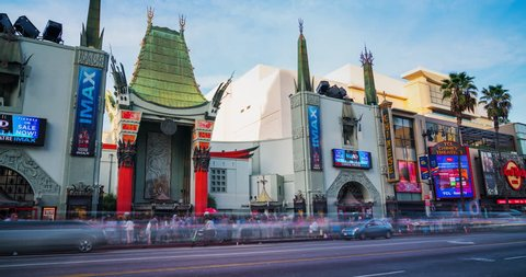 Los Angeles, CA - November 17, 2018: Grauman's Chinese Theatre on November 17, 2018 in Los Angeles. Grauman's Chinese Theatre is a movie palace on the historic Hollywood Walk of Fame at Hollywood Blvd