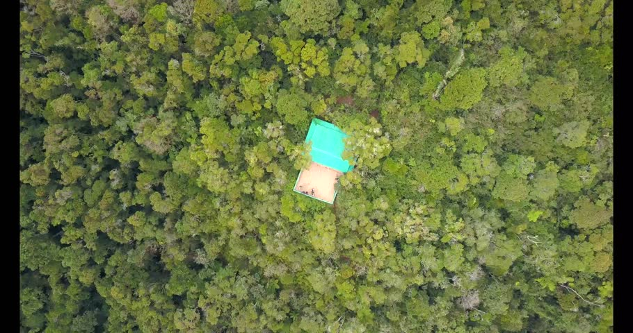 Aerial view of a view point in Ranomafana National Park. This is a rainforest in Madagascar with a lot of different lemurs and other wildlife. | Shutterstock HD Video #1021039000