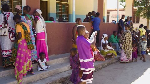 Idodi, Africa / Tanzania - 03 04 2015: Outpatient clinic in the center of the villages in the hinterland, guarantee a minimum health contribution