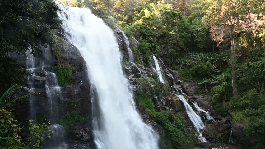 Tropical beautiful waterfall #1021241260
