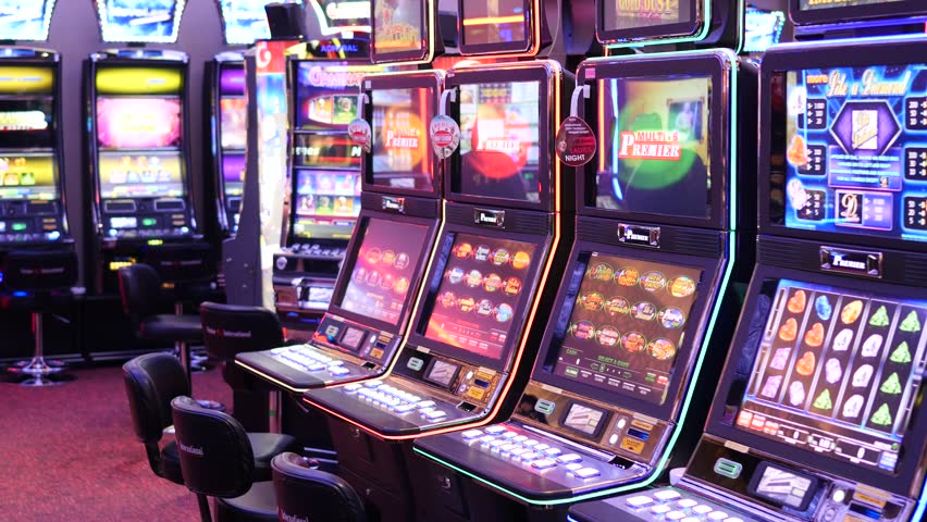 Slot machines in the casino