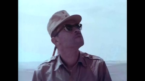 CIRCA 1960s - US military surveyors travel in Central and South America deserts to create accurate maps in the 1960s -