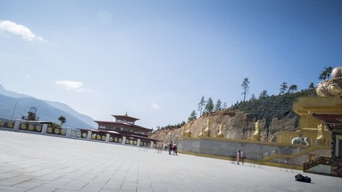 Thimphu, Bhutan -  December, 04, 2018: Buddha point temple