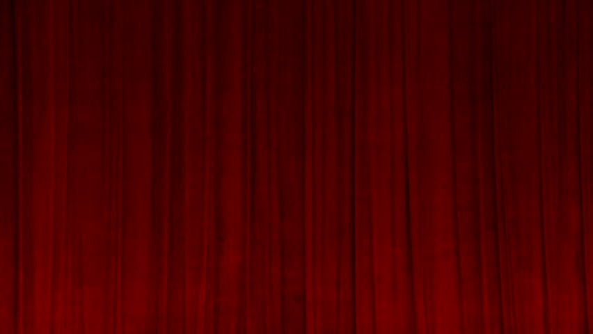 Red velvet curtain in the theater, backdrop for stand-up performances