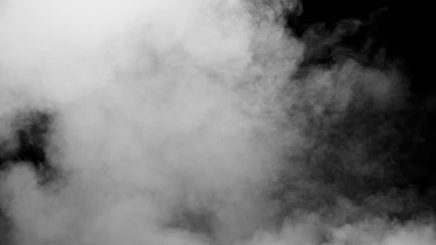 White clouds of vapor smoke are isolated on a black background. Gas explodes, swirl and dances in space. A magic fog dust texture effect that can be used by overlay and changing their transparency. | Shutterstock HD Video #1021595320
