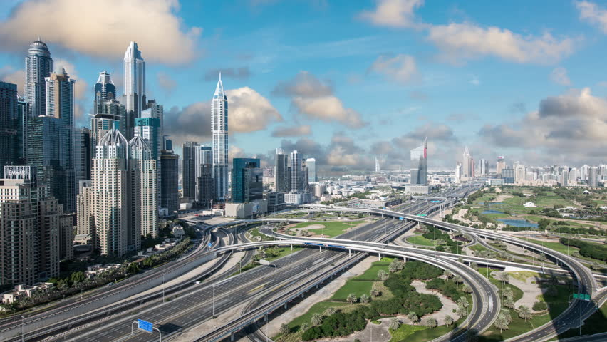 Time Lapse of Traffic in Downtown Dubai, UAE | Shutterstock HD Video #1021680280