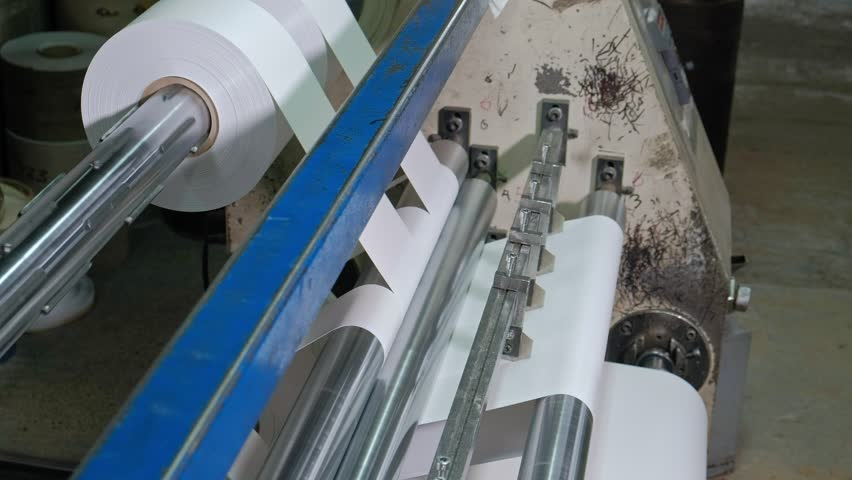 Lamination of doors, drawing veneer, the production of interior doors 4k | Shutterstock HD Video #1021689880