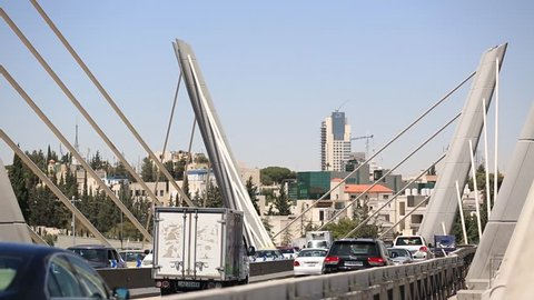 AMMAN, JORDAN - MARCH 12, 2018: Abdoun Express bridge in Jordan.