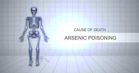 Human Forensic Autopsy Animation Concept - Cause of Death - Arsenic Poisoning