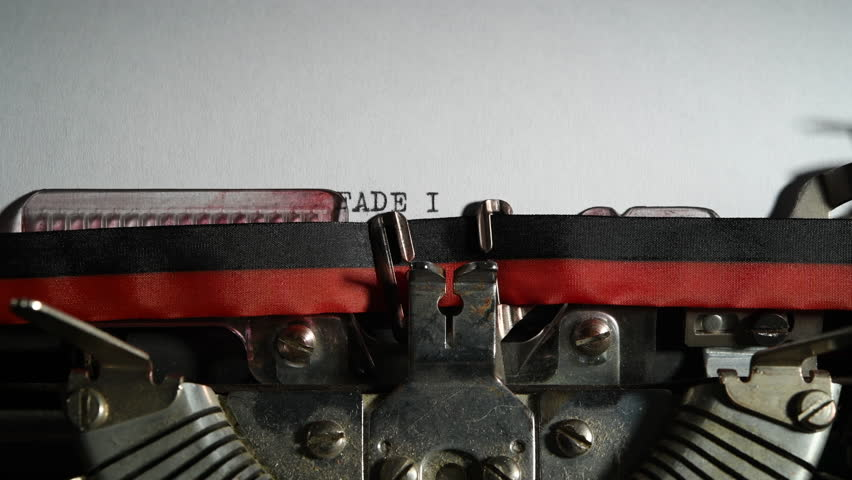 Typewriter vintage writing text