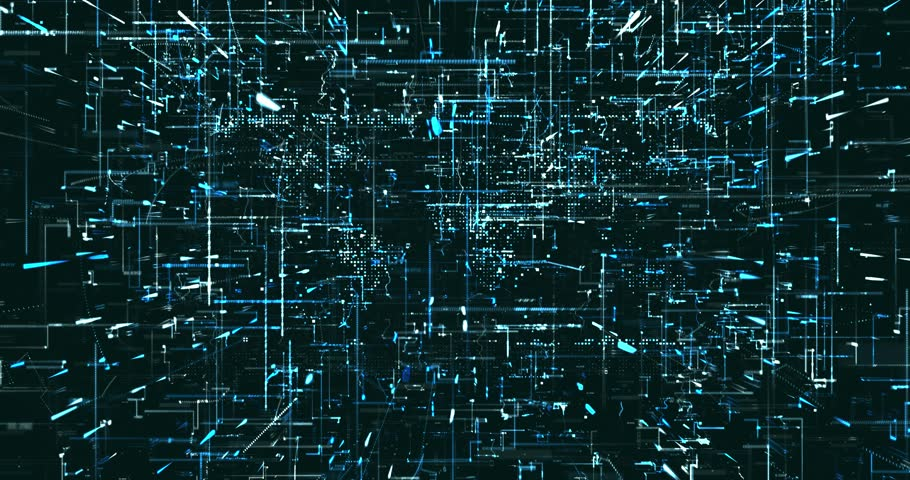 Abstract digital data background | Shutterstock HD Video #1022049490
