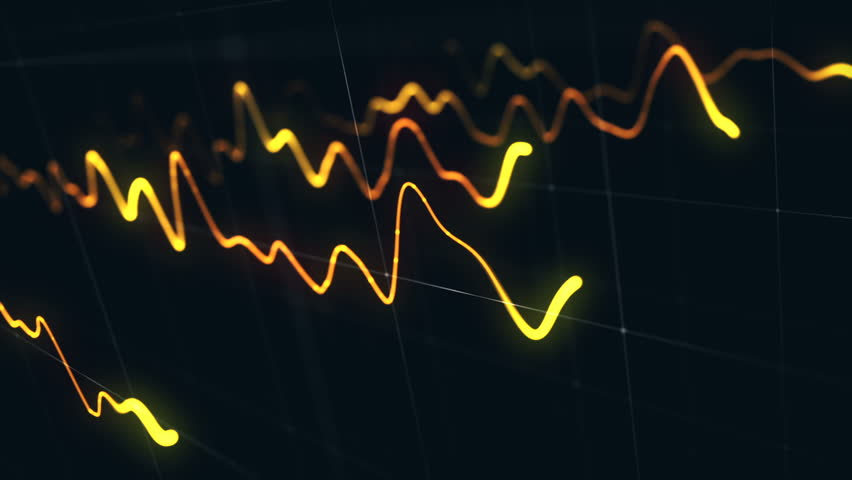 Animation growth of abstract charts with changing values of check points on dark background. Animation of seamless loop.   Shutterstock HD Video #1022110780