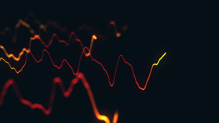 Animation growth of abstract charts with changing values of check points on dark background. Animation of seamless loop.   Shutterstock HD Video #1022110960
