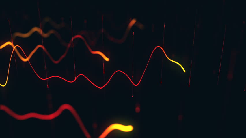 Animation growth of abstract charts with changing values of check points on dark background. Animation of seamless loop.   Shutterstock HD Video #1022110990