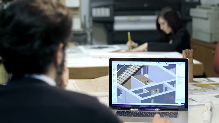 Architect studio male and female architect at work cad software architect studio male and female architect at work cad software blueprint stock footage video 10221860 shutterstock malvernweather Image collections