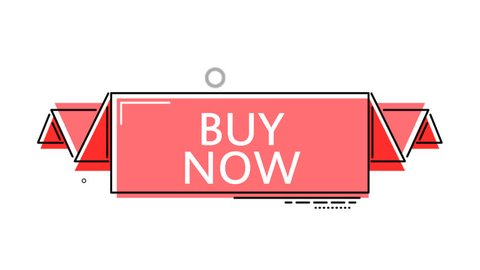 red flat animation banner buy now