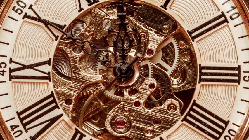 Spiral clock track of time | Shutterstock HD Video #1022332420