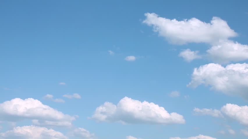 Sky & clouds time lapse, nature summer sunny lightness clear weather, beautiful building cloudscape in horizon, motion after rain white cloudy day, panoramic view. FHD. #1022333890