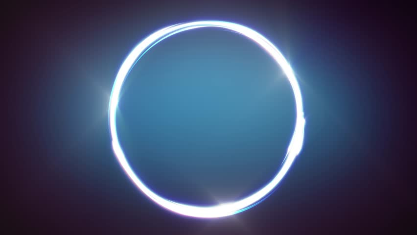 Abstract Circle Stroke Lines Animation/ Animation of an abstract business hitech background with shining light strokes following circular ring motion path | Shutterstock HD Video #1022368990