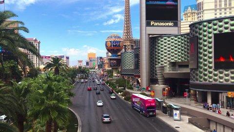 Las Vegas, Nevada / USA - September 2017: South Las Vegas Boulevard