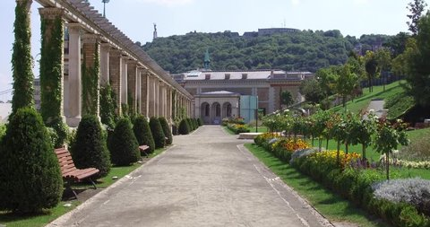 The beautiful renaissance garden of the Castle Garden at the foot of the Buda Castle in Budapest.