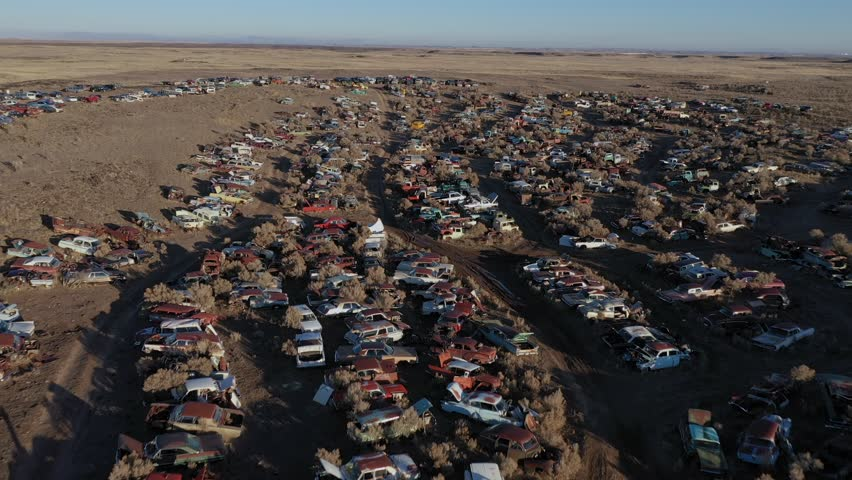 Junk yard drone fly over #1022526970