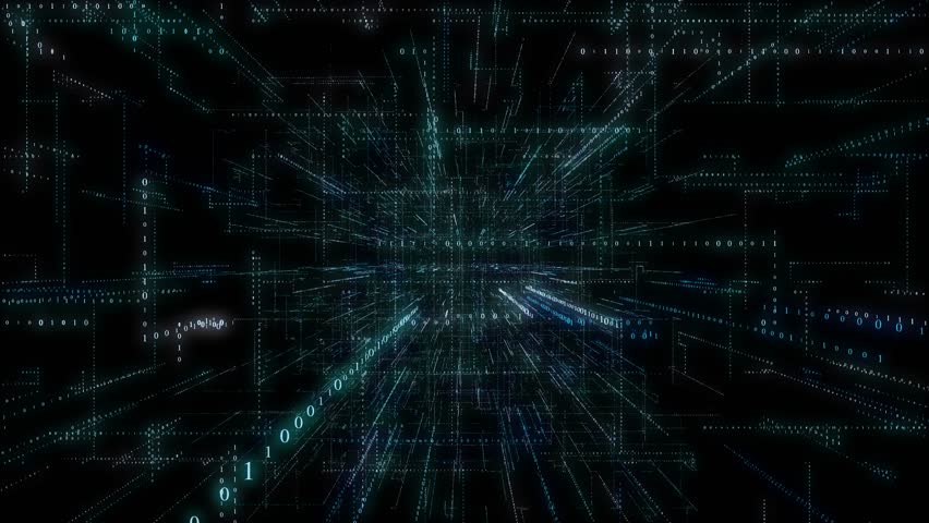 4K 3D Smart digital binary code with futuristic smart technology and connection network concept with seamless loop effect .  | Shutterstock HD Video #1022527660