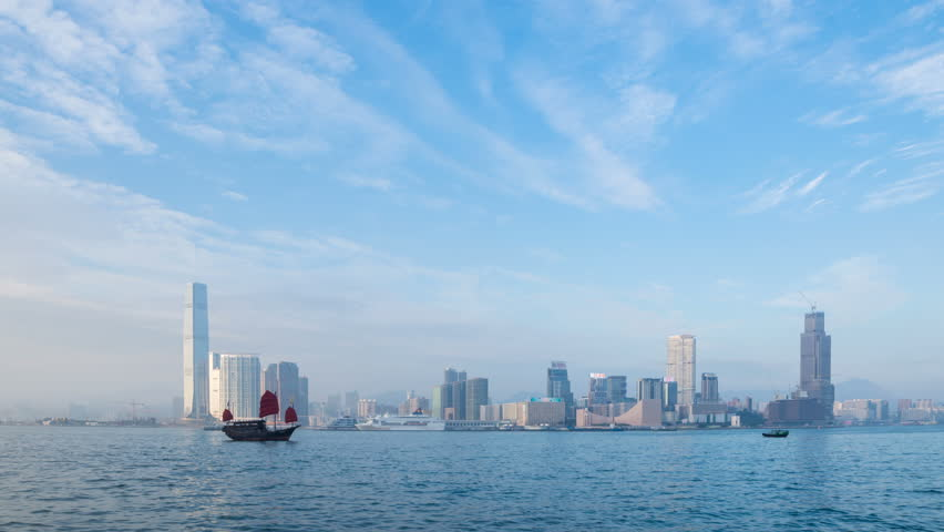 Hong Kong city scenery | Shutterstock HD Video #1022639320