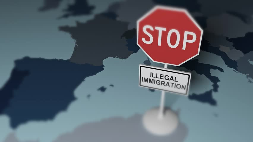 Stop Illegal Migration in Europe. Stock Footage Video (100 ...