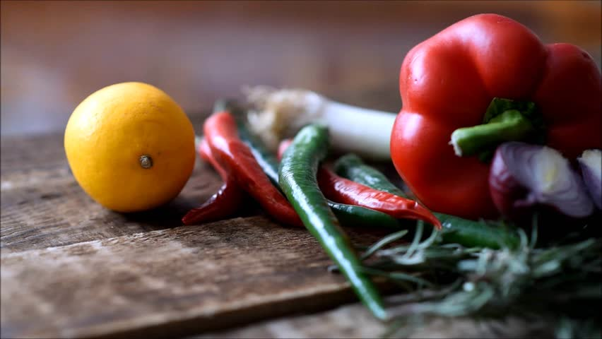 Fresh vegetables on the table | Shutterstock HD Video #1022702530