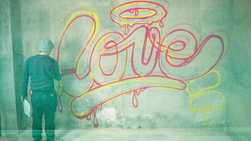 стоковое видео Awesome Graffiti Of The Word абсолютно без лицензионных платежей 1022703310 Shutterstock