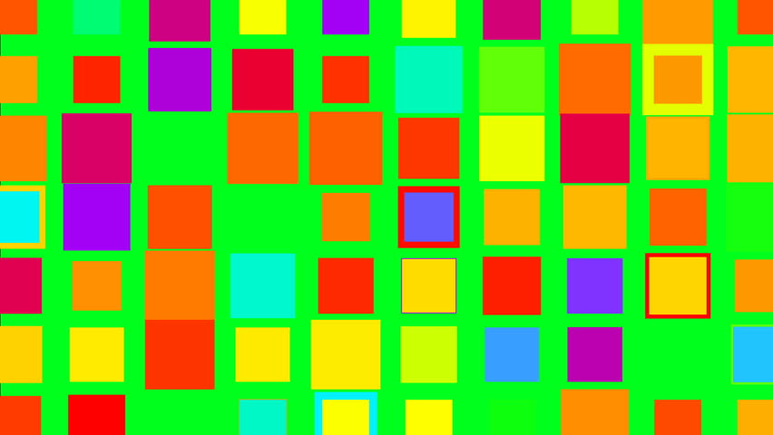 Twinkling colorful squares on green screen minimalism concept | Shutterstock HD Video #1022809720
