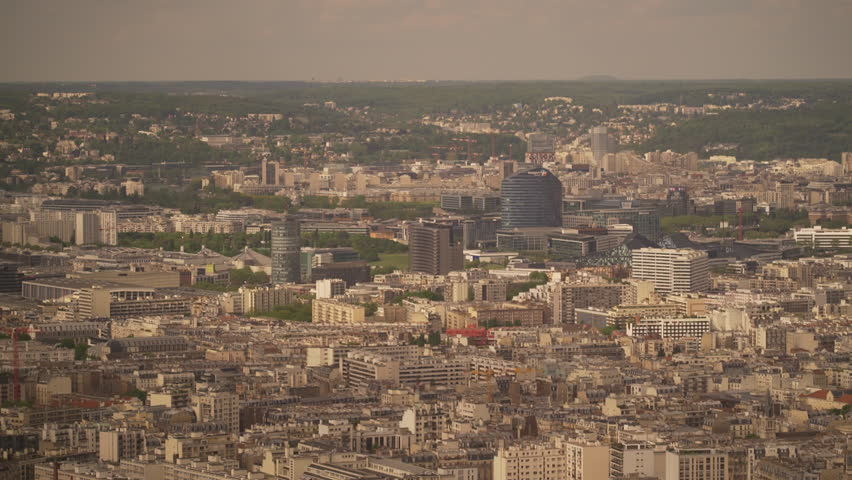 Large view of the city of Paris in France | Shutterstock HD Video #1022819680