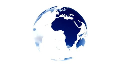different colors and lights inserted into the world map white background world map blue white globe loop animation Planet Earth spinning isolated on white background rotating globe digital data world