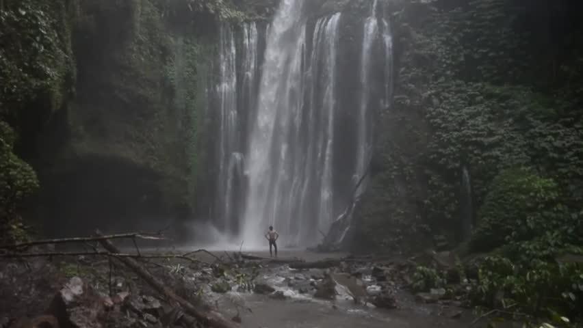 A waterfall    Shutterstock HD Video #1022966680
