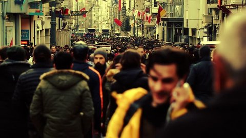Timelapse people city. Timelapse people walking. crowd time lapse street walking people. Background people large street. istanbul turkish woman and turkish man.