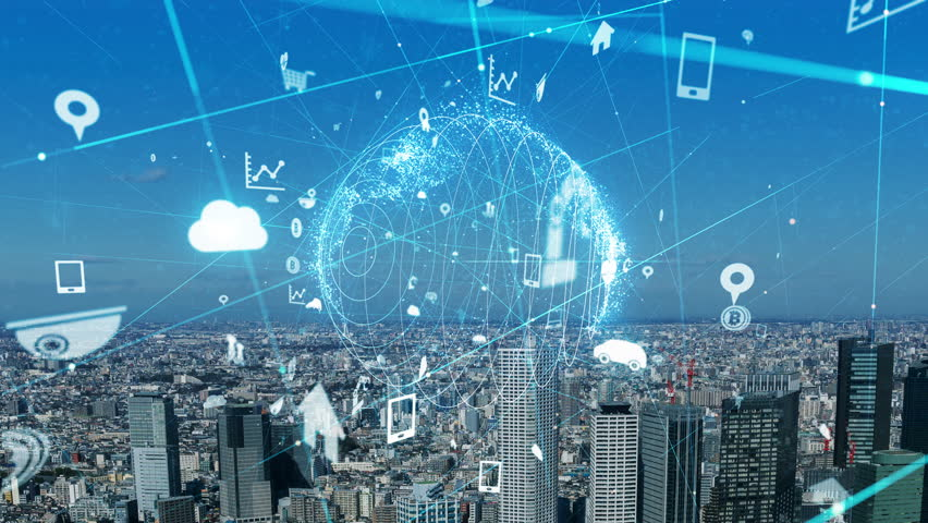 Internet of Things concept. IoT. ICT. | Shutterstock HD Video #1023190900