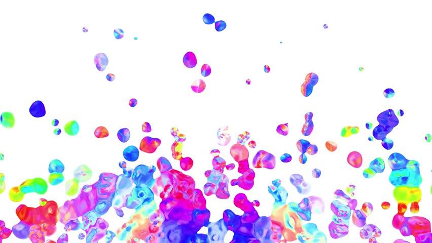 Rainbow Colorful Paint Splatter Blot Stock Footage Video 100 Royalty Free 1023216940 Shutterstock