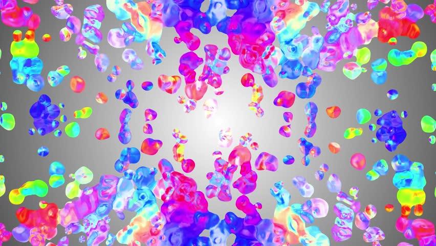 Rainbow Colorful Paint Splatter Blot Stock Footage Video 100 Royalty Free 1023217000 Shutterstock