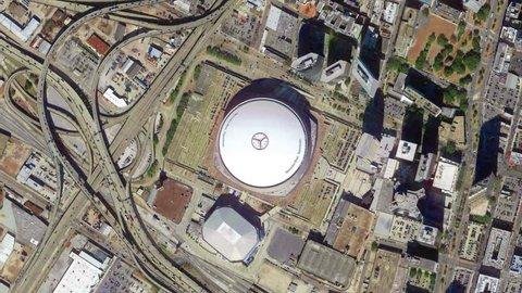 Earth Zoom From Mercedes Benz Superdome - Luisiana - EUA