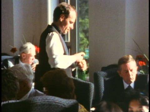 BANFF NATIONAL PARK, ALBERTA, 1990, Chateau Lake Louise Hotel, wine steward